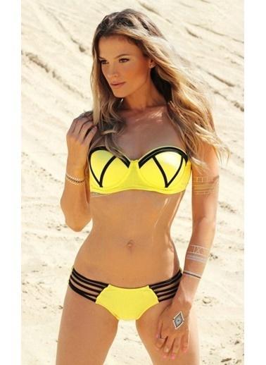 Angelsin Destekli Bikini Takımı Sarı
